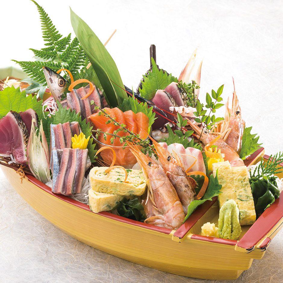【鮮度が自慢の看板料理】<br /> 買参権 自社買付けの地魚盛合せ